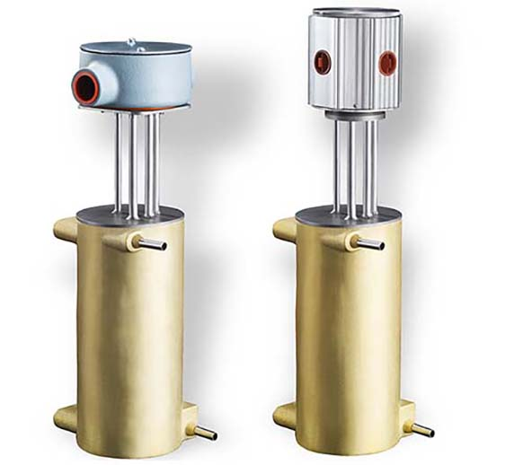 The CAST-X High Temperature 1000 is a stainless steel tube heater with a bronze body, waterproof enclosure, explosion-proof housing, and several options for K-Type and J-Type thermocouples.