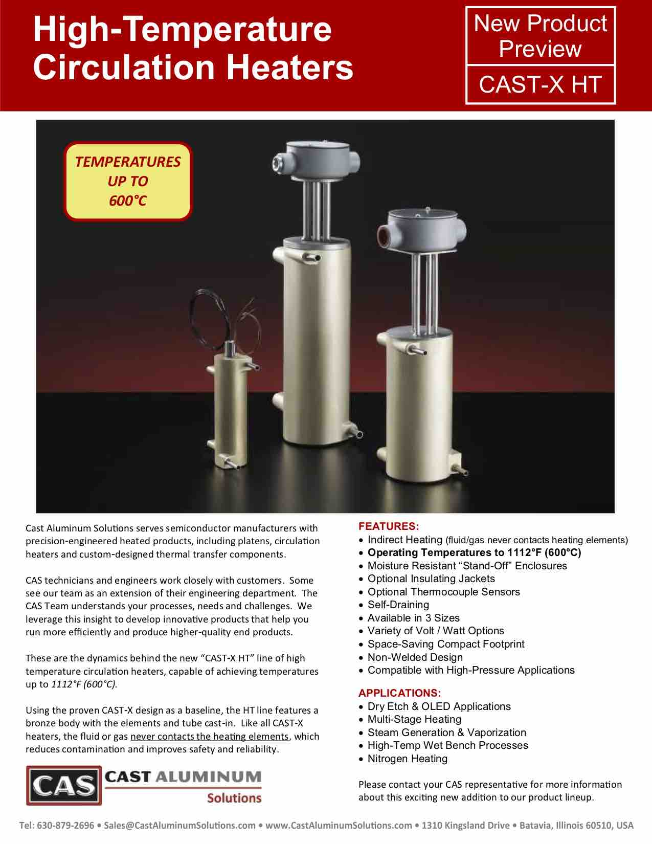 CAST X High Temp Circulation Heaters Cast Aluminum Solutions (dragged)