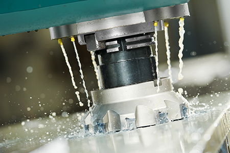 13094736 - close-up process of metal machining by mill