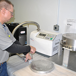 Helium Leak Quality Control Of Aluminum Manufacatured Heaters At CAS In Batavia IL